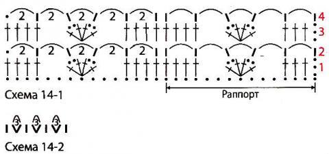 Схема вязания кофта с глубоким вырезом и контрастной планкой раздел вязание крючком для женщин кофты для женщин