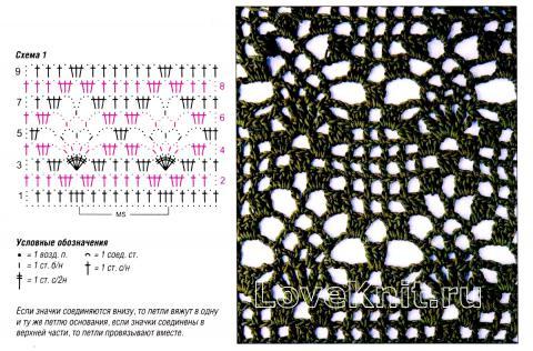 Схема вязания коричневый ажурный пуловер раздел вязание крючком для женщин кофты для женщин