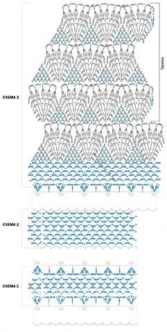 Схема вязания кружевной полосатый топ раздел вязание крючком для женщин кофты для женщин