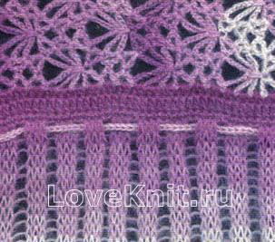 Схема вязания меланжевая кофта с поясом раздел вязание крючком для женщин кофты для женщин