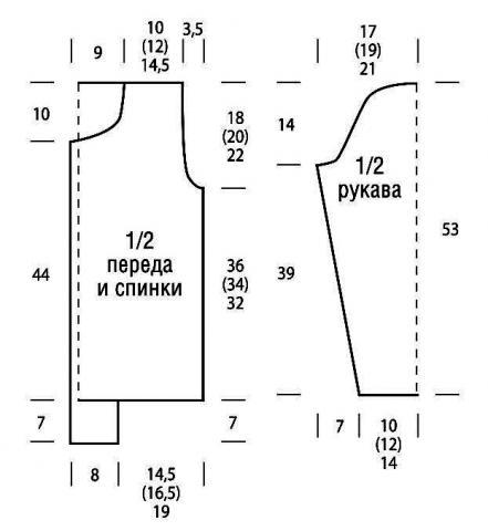 Схема вязания объемный жакет на пуговицах и шапочка раздел вязание крючком для женщин кофты для женщин