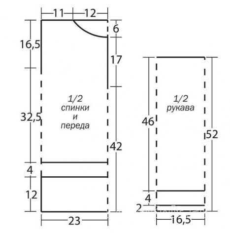 Схема вязания полупрозрачная сетчатая туника с орнаментом раздел вязание крючком для женщин кофты для женщин