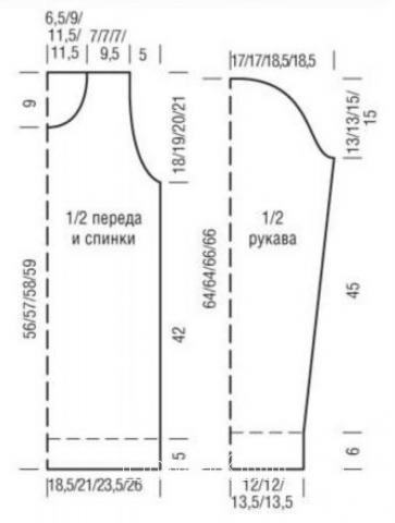 Схема вязания пуловер в двухцветную рельефную клетку раздел вязание крючком для женщин кофты для женщин
