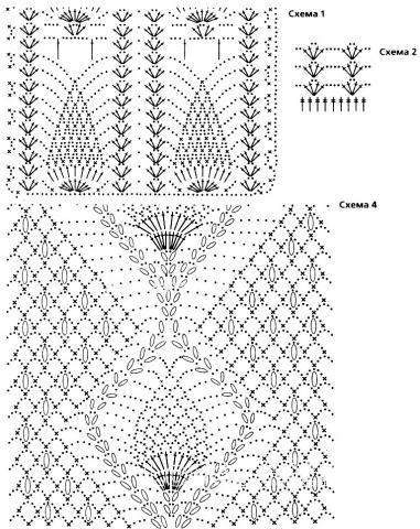 Схема вязания сетчатый топ с глубоким вырезом раздел вязание крючком для женщин кофты для женщин