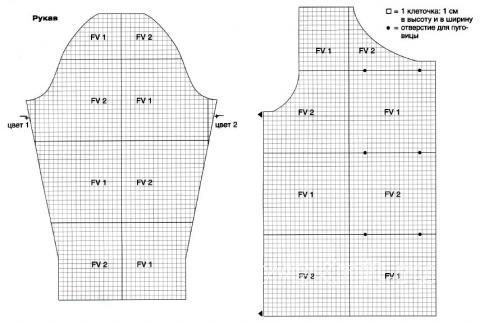 Схема вязания свободный двубортный жакет с цветным узором раздел вязание крючком для женщин кофты для женщин