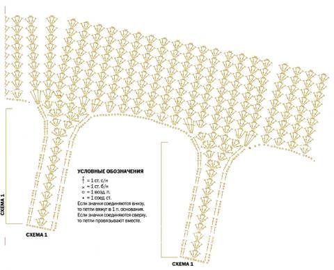 Схема вязания топ с бахромой на тонких бретелях раздел вязание крючком для женщин кофты для женщин