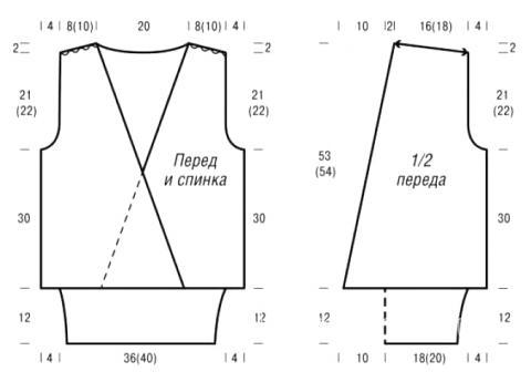 Схема вязания топ с глубоким вырезом и шаль раздел вязание крючком для женщин кофты для женщин