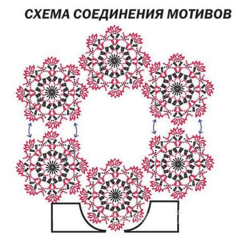 Схема вязания топ без рукавов с цветочным орнаментом раздел вязание крючком для женщин кофты для женщин