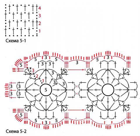 Схема вязания туника с ажурным поясом раздел вязание крючком для женщин кофты для женщин