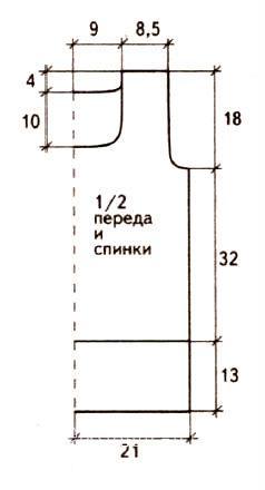 Схема вязания удлиненный джемпер с квадратным вырезом раздел вязание крючком для женщин кофты для женщин