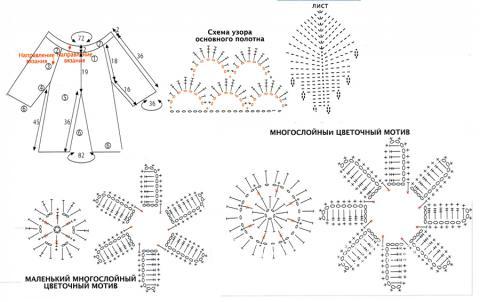 Схема вязания удлиненный пуловер в сеточку раздел вязание крючком для женщин кофты для женщин