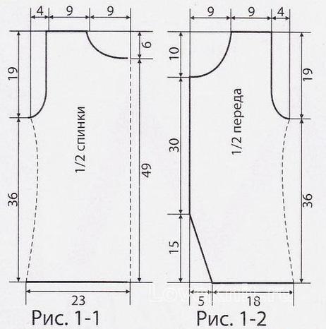 Схема вязания удлиненный топ с цветочным узором  раздел вязание крючком для женщин кофты для женщин