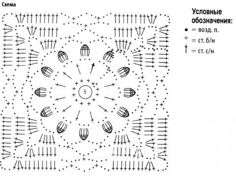Схема вязания удлиненный жакет из ажурных мотивов раздел вязание крючком для женщин кофты для женщин