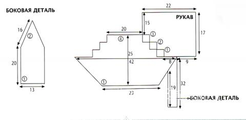 Схема вязания укороченный полосатый топ  раздел вязание крючком для женщин кофты для женщин