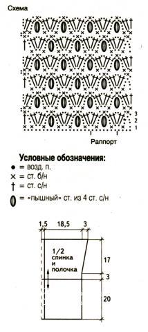 Схема вязания укороченный жакет без рукавов раздел вязание крючком для женщин кофты для женщин