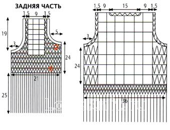 Схема вязания жакет с бахромой без рукавов  раздел вязание крючком для женщин кофты для женщин