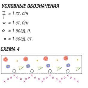 Схема вязания жилет с оборками и цветами раздел вязание крючком для женщин кофты для женщин