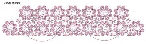 Схема вязания ажурный жилет с узором из цветов раздел вязание крючком для женщин жилеты, безрукавки для женщин