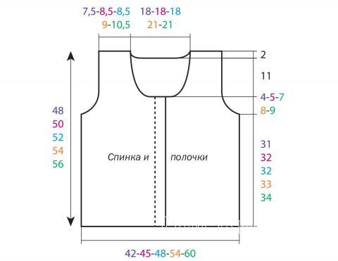 Схема вязания короткий ажурный жилет без застежек раздел вязание крючком для женщин жилеты, безрукавки для женщин