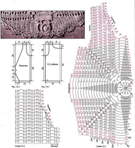 Схема вязания легкий ажурный жилет раздел вязание крючком для женщин жилеты, безрукавки для женщин
