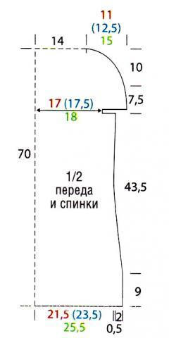 Схема вязания полосатая безрукавка и напульсники раздел вязание крючком для женщин жилеты, безрукавки для женщин