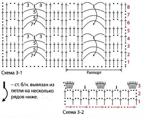 Схема вязания удлиненный жилет с ажурным узором раздел вязание крючком для женщин жилеты, безрукавки для женщин