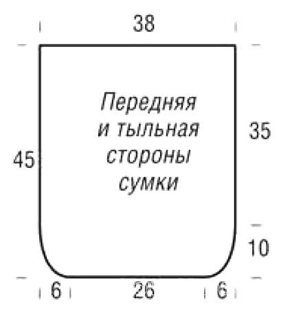 Схема вязания большая сумка с рельефным узором раздел вязание спицами для женщин сумки