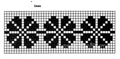 Схема вязания повязка с жаккардовым узором раздел вязание крючком для женщин шапки для женщин