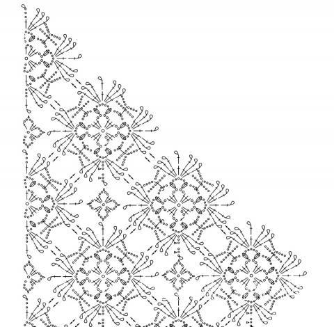 Схема вязания белая ажурная шаль раздел вязание крючком для женщин шарфы, шали, палантины для женщин