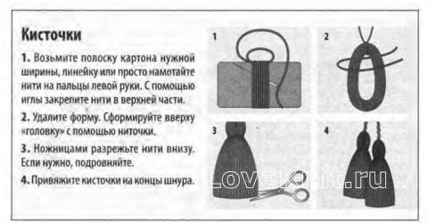 Схема вязания комплект из шарфа с кистями и шапкой с отворотом раздел вязание крючком для женщин шарфы, шали, палантины для женщин