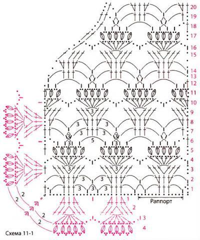 Схема вязания белое болеро с ажурным узором раздел вязание крючком для женщин накидки, болеро для женщин