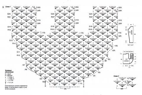 Схема вязания красно-серое болеро раздел вязание крючком для женщин накидки, болеро для женщин