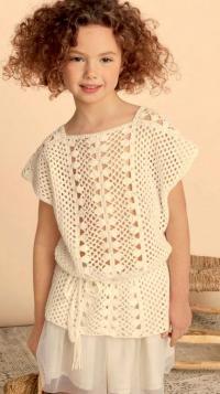 Вяжем кофту для девочки спицами 10 лет