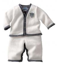 Как связать  детские штанишки и кофта с аппликацией