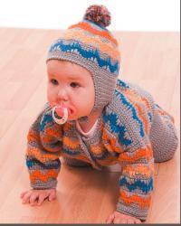 Как связать  детский костюм: жакет, штанишки, шапочка и носочки