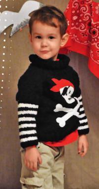 Как связать  детский пуловер со съемными рукавами