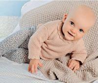 Как связать  детский свитер с воротником «ракушки» и покрывало