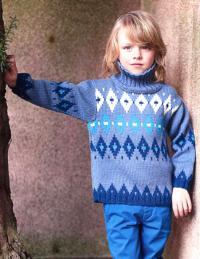 Как связать  детский свитер с высоким воротником