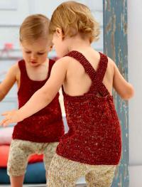 Как связать  детский топ с перекрещивающимися лямками на спине
