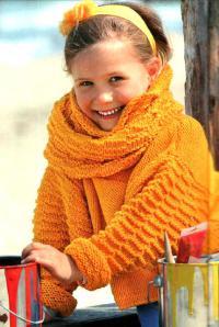Как связать  короткий свободный пуловер и шарф-петля