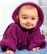 Как связать  плюшевая кофта с капюшоном для малыша