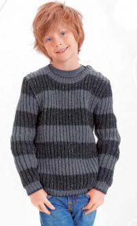 Как связать  полосатый пуловер патентным узором