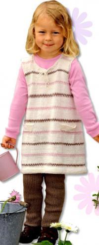 Как связать кофты полосатый сарафан на завязках и леггинсы для девочки