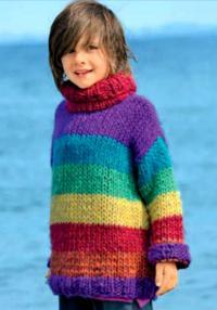 Как связать кофты разноцветный детский джемпер и гетры