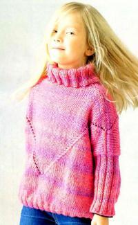 Как связать кофты свитер с большим воротником-стойкой