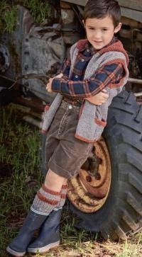 Как связать  удлиненный жилет с капюшоном и карманами в комплекте с гетрами