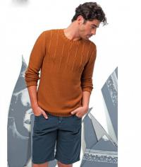 Как связать для мужчин мужской пуловер с рельефным узором