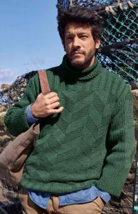 Как связать для мужчин мужской пуловер с узором из ромбов