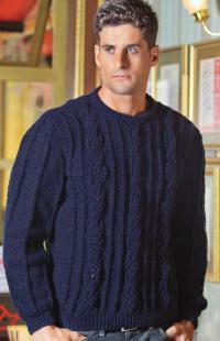 Как связать для мужчин мужской свитер с вертикальным рельефным узором