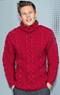 Как связать кофты объемный свитер с жемчужным узором